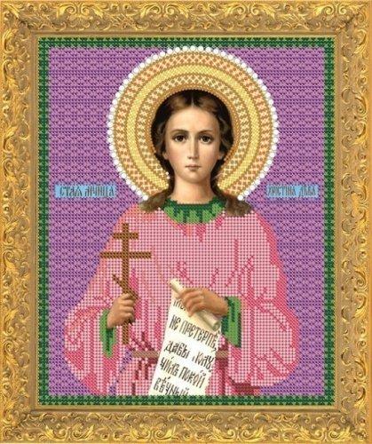 """Рисунок на ткани для вышивания бисером 724М """"Св. Мученица Кристина"""""""