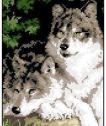 """Набор для вышивания Ф08 """"Волки"""""""