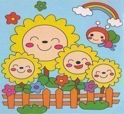 Детский набор для рисования на подрамнике № 20