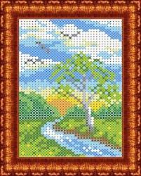 Канва для бисера КБП-6004 Береза у реки