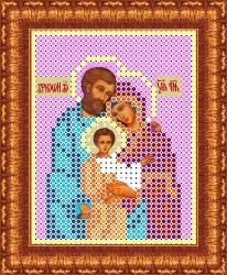 Канва для бисера КБИ-6006ф Святое семейство 7х9 см