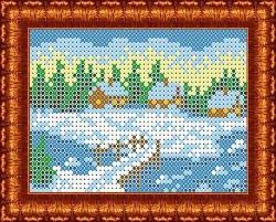 Канва для бисера КБП-6009 Зима