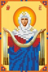Канва для бисера КБИ-6015 Покров Пресвятой Богородицы 8х12 см