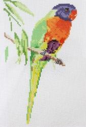 Схема для вышивания нитью мулине 20х28 см № 7084