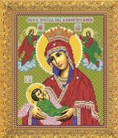"""Рисунок на ткани для вышивания бисером Бис 394 """"Прсв. Богородица Млекопитательница"""""""