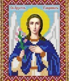 """Набор для вышивания бисером ВБ-232 """"Икона Св. Архангела Гавриила"""""""