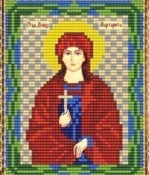 """Набор для вышивания бисером ВБ-243 """"Икона Святой Маргариты"""""""