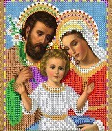 """Рисунок на ткани для вышивания бисером 352М """"Святое Семейство"""""""