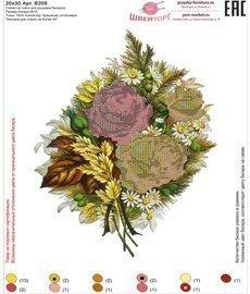 Рисунок на ткани для вышивания бисером ШвейТорг В209