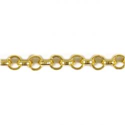 Цепь металл 4 мм 7.0BL, золото 1/10 м
