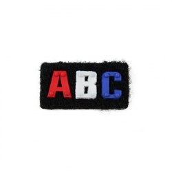 "Бирка пришивная №14 ""ABC"" 1/50 шт"