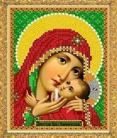 """Рисунок на ткани для вышивания бисером 318М """"Прсв. Богородица Касперовская"""""""