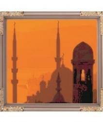 """Рисунок на ткани для вышивания бисером К-069 """"Мечеть"""""""