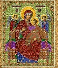 """Рисунок на ткани для вышивания бисером 350Б """"Прсв. Богородица Всецарица"""""""