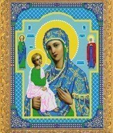 """Канва с нанесённым рисунком для вышивания бисером 422Б """"Прсв. Богородица Иерусалимская"""""""