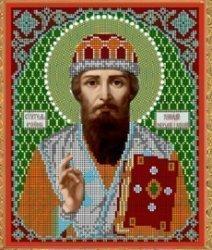 """Рисунок на ткани для вышивания бисером Бис 791 """"Св. Генадий"""""""