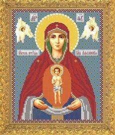 """Рисунок на ткани для вышивания бисером Бис 389 """"Прсв. Богородица Албазинская"""""""