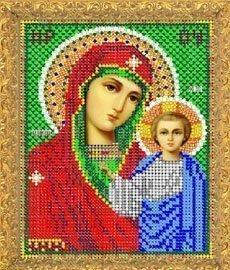 """Рисунок на ткани для вышивания бисером 410М """"Прсв. Богородица Казанская"""""""