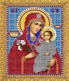 """Рисунок на ткани для вышивания бисером 421М """"Прсв. Богородица Благоуханный Цвет"""""""