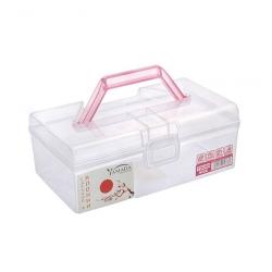 Контейнер пластиковый с розовой ручкой