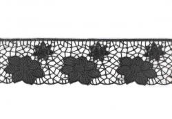 Кружево плетеное с кож. зам. вставками W307-2B, 1/5 ярд.