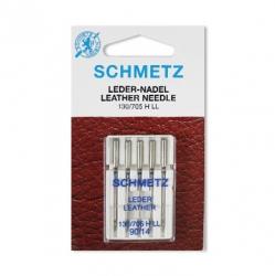 Иглы №14(90) SCHMETZ для бытовых швейных машин (кожа)