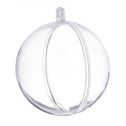 Шар для декора пластик 10 см 1/5 шт