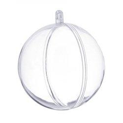 Шар для декора пластик 8 см 1/5 шт