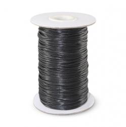 Шнур вощёный 1 мм чёрный Корея