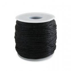 Шнур вощёный 1 мм чёрный