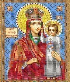 """Рисунок на ткани для вышивания бисером 400М """"Прсв.Богородица Призри на смирение"""""""