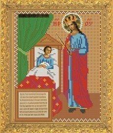 """Рисунок на ткани для вышивания бисером Бис 358 """"Образ Прсв. Богородицы Целительница"""""""
