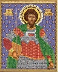 """Рисунок на ткани для вышивания бисером Бис 780 """"Святой Феодор Стратилат"""""""