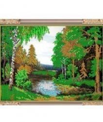 """Рисунок на ткани для вышивания бисером К-247 """"Сказочный лес"""""""