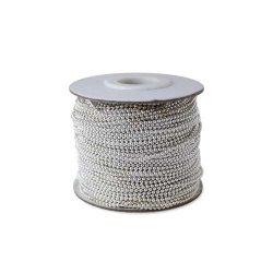 Цепь металл 1,5 мм. серебро (50м.)