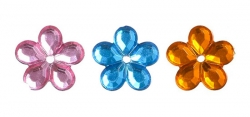 Стразы пришивные цветок 12 мм
