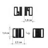Застёжка пластиковая для белья J2G-1,4 см 1/100 шт